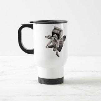 Milk collage collage travel mug