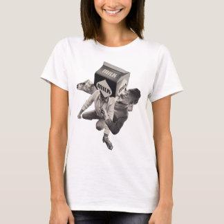Milk collage T-shirt, ladies T-Shirt