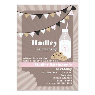Milk & Cookies Birthday - Chocolate Chip Pink Card