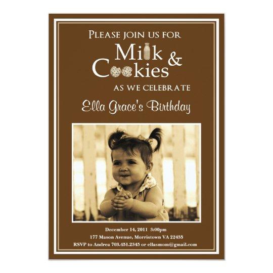 Milk & Cookies Birthday Party Invitation