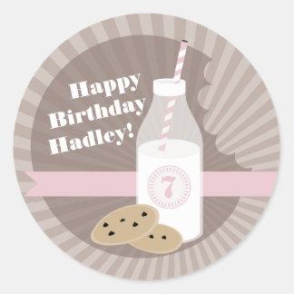 Milk Cookies Birthday Sticker Chocolate Chip Pink