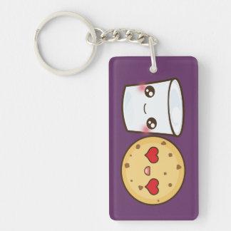 Milk & Cookies Couple Single-Sided Rectangular Acrylic Keychain