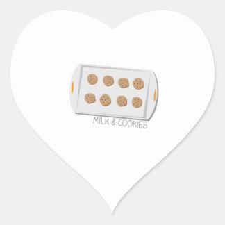 Milk & Cookies Heart Sticker