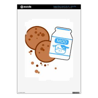 Milk & Cookies iPad 3 Decals