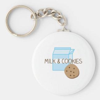 Milk & Cookies Basic Round Button Keychain