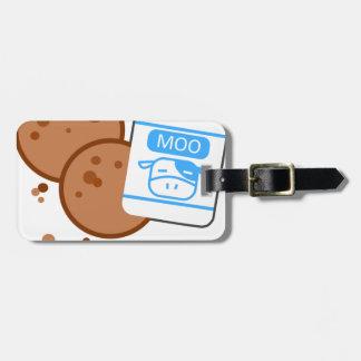 Milk & Cookies Luggage Tag