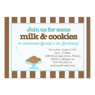 Milk & Cookies Party (Aqua/Brown) Card