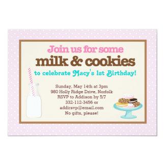Milk & Cookies Party (Pink) Card