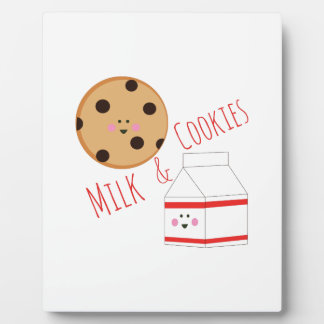 Milk & Cookies Display Plaque
