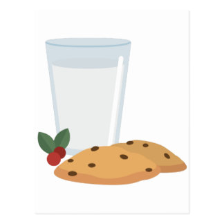 Milk & Cookies Postcard