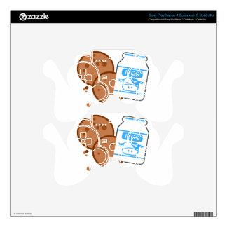 Milk & Cookies PS3 Controller Skin