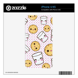 Milk & Cookies Skins For The iPhone 4S
