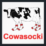 "Milk Cow in Socks - Cowasocki Cow A Socky Photo Print<br><div class=""desc"">Whether you like cows or foreign motorcycles,  you&#39;ll love Cowasocki!</div>"