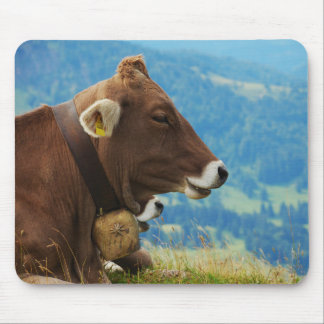 Milk cow in the alps mouse pad