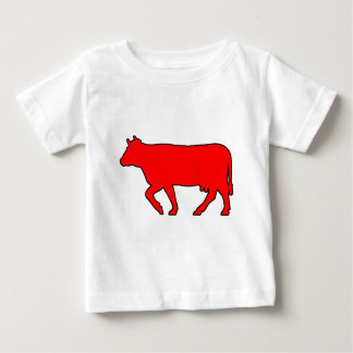 Milk Cow Silhouette Beef Cattle Moo Bull Steer Baby T-Shirt