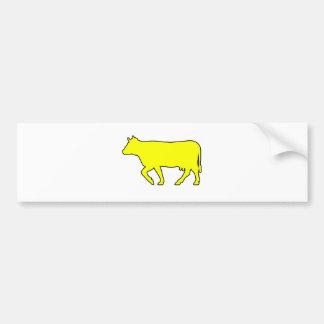 Milk Cow Silhouette Beef Cattle Moo Bull Steer Bumper Sticker