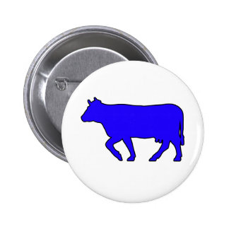 Milk Cow Silhouette Beef Cattle Moo Bull Steer 2 Inch Round Button