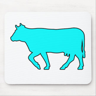 Milk Cow Silhouette Beef Cattle Moo Bull Steer Mouse Pad