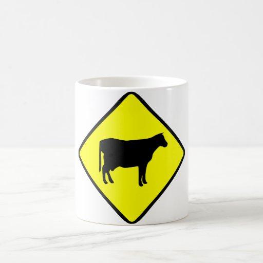Milk Cow Silhouette Beef Cattle Moo Bull Steer Classic White Coffee Mug