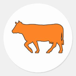 Milk Cow Silhouette Beef Cattle Moo Bull Steer Stickers