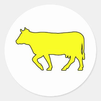 Milk Cow Silhouette Beef Cattle Moo Bull Steer Sticker