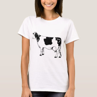 Milk Cow Silhouette Beef Cattle Moo Bull Steer T-Shirt