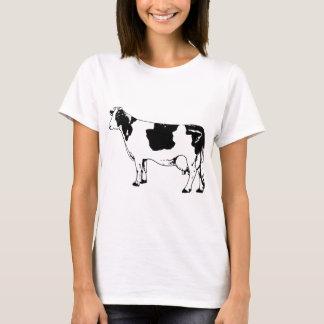 Milk Cow Silhouette Beef Cattle Moo Bull Steer T-Shirt