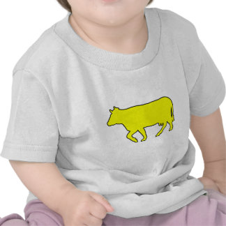 Milk Cow Silhouette Beef Cattle Moo Bull Steer Tees