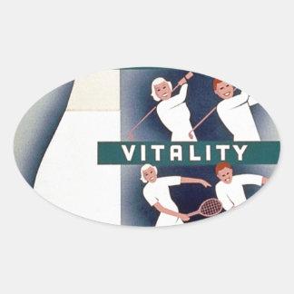 Milk - for health, good teeth, vitality, endurance oval sticker