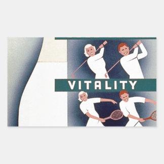 Milk - for health, good teeth, vitality, endurance rectangular sticker