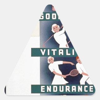 Milk - for health, good teeth, vitality, endurance triangle sticker