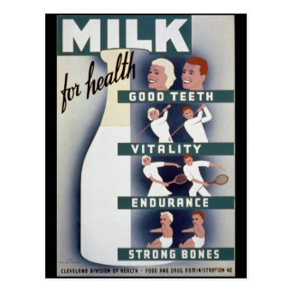 Milk For Health Postcard