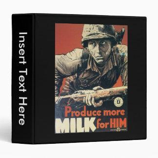 Milk For Him World War 2 3 Ring Binder