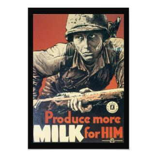 Milk For Him World War 2 Card