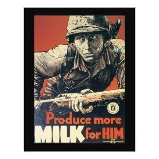 Milk For Him World War 2 Flyer