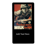 Milk For Him World War 2 Personalized Shipping Labels
