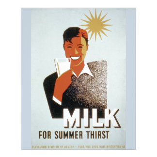 Milk, for summer thirst personalized flyer