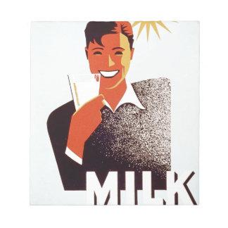Milk - for summer thirst notepad