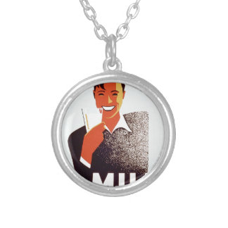 Milk - for summer thirst round pendant necklace