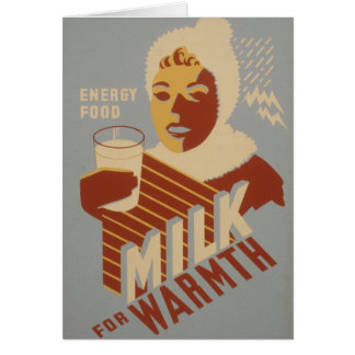 Milk for Warmth Card