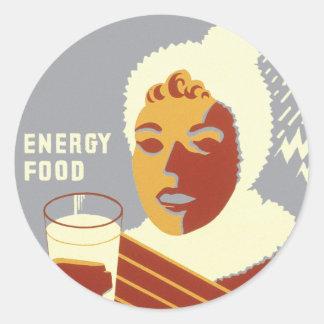 Milk for Warmth Classic Round Sticker