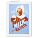 Milk For Warmth Energy 1941 WPA Card