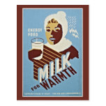 Milk For Warmth Energy Food WPA Postcard