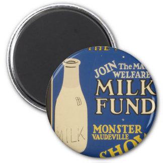 Milk for Warmth 2 Inch Round Magnet