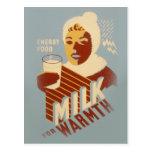 Milk for Warmth Postcard