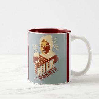 Milk for Warmth Two-Tone Coffee Mug