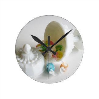 Milk Glass Candy Dish Wall Clocks