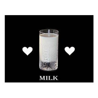 Milk (Hearts) Postcard