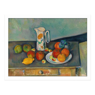 Milk Jug and Fruit by Cezanne Postcard