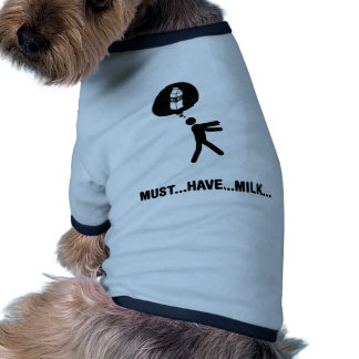 Milk Lover Dog T Shirt